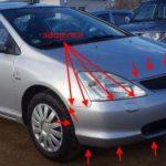 Как заменить фару в Honda Civic 2001 года