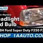 Как заменить фары на Ford F-250 2001 года