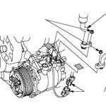 Как заменить компрессор кондиционера в Honda Accord