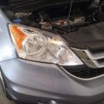 Как заменить лампу фары в Honda CR-V