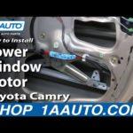 Как заменить мотор окна Toyota
