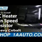 Как заменить мотор вентилятора в алеро