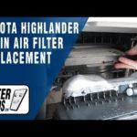Как заменить салонный воздушный фильтр в Toyota Highlander