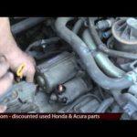 Как заменить стартер на Honda Civic