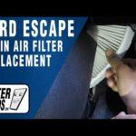 Как заменить воздушный фильтр на Ford Escape