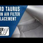 Как заменить воздушный фильтр в Ford Taurus