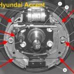 Как заменить задние тормоза на Hyundai Accent