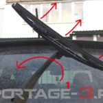 Как заменить задний стеклоочиститель на KIA Sportage