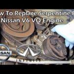 Как заменить Змеиный Пояс в Nissan Pathfinder