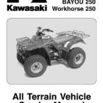 Kawasaki 360 Prairie Service Информация