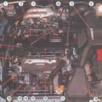 Расположение нагревателя блока в Mitsubishi Lancer