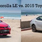 Различия между Corolla LE & S