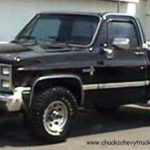 Спецификация колесной базы Chevy Pickup 1985 года