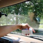 Удаление никотина из автомобильных стекол